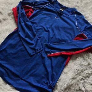 Red and Blue Nike Longsleeve